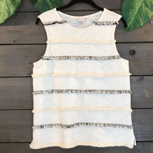 A New Day FRINGE Front Tank Size M